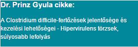 Dr. Prinz Gyula cikke